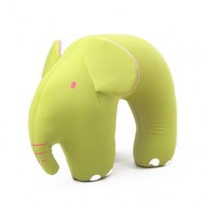 维维熊 冰凉粒子立体动物造型U型枕(长鼻象)