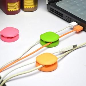 韩国时尚可爱糖果色硅胶绕线器 理线器