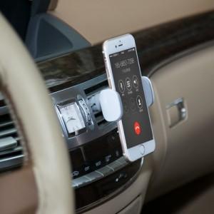 多功能车载手机支架 出风口吸盘式手机座 360°可旋转手机架 黑色