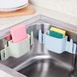 厨房水槽沥水收纳架  强力三吸盘卫浴杂物置物架 浅绿色