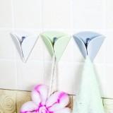 日式清新色强力吸盘毛巾挂钩 厨房浴室无痕粘钩毛巾夹(2个装) 白色