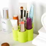 梅花形梳妆台化妆品收纳盒  糖果色桌面分隔整理盒 粉色