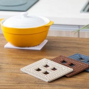 创意方形可折叠锅垫 耐高温隔热防烫餐具垫杯垫 FTK075 棕色