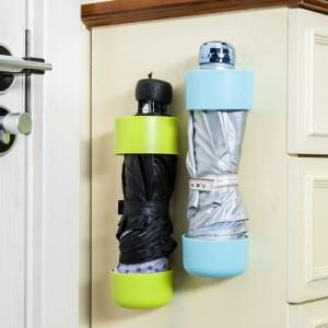 家用糖果色雨伞收纳架 创意粘附式雨伞挂架 小号 绿色