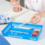 镂空多格桌面收纳盒 办公多功能分类整理盒 A-073 蓝色