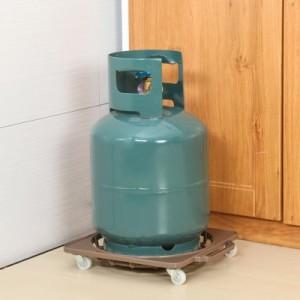 可移动煤气罐置物架 厨卫重物移动支架 花瓶水桶底座托盘 咖啡色