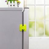 宝宝冰箱安全防护锁 抽屉柜门多功能安全锁 安全卡扣 绿色