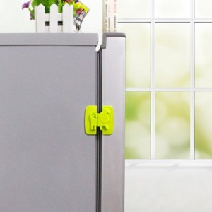 宝宝冰箱安全防护锁 抽屉柜门多功能安全锁 安全卡扣 粉色