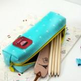 海盗传奇多功能帆布方笔袋 文具收纳袋 MH1402-028 桔色