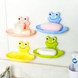 清新可爱青蛙双吸盘香皂盒 沥水肥皂盒浴室皂架 RB245 粉色