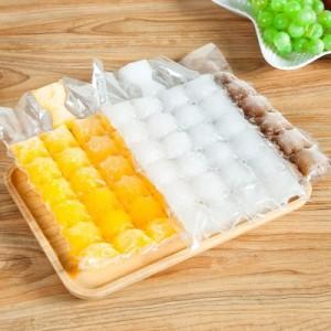 创意自封口一次性制冰袋 冻冰块模具 冰格袋(10片装)