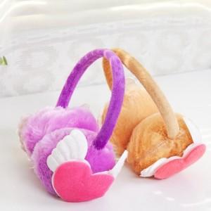 时尚仿兔毛冬季保暖耳罩耳朵防冻保护罩护耳罩 心型翅膀款(混卖)