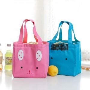 可爱卡通便当包饭盒袋 韩国创意动物午餐包 保温袋 手拎包 黄色