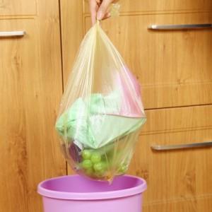 加厚加大型厨房一次性垃圾袋点断式中号垃圾袋 30只装 黄色