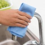 超细纤维超强去油污吸水不掉毛擦桌抹布厨房清洁布洗碗巾百洁布 蓝色