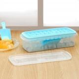 33格组合式大容量带盖冰格冰块盒模具 带储冰盒送铲制冰盒套装 8022 绿色