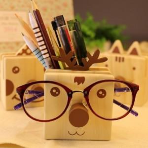 韩国文具Happy Buddy多功能笔筒文具盒眼镜架QL-1402 小丑