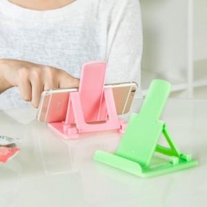 创意桌面可折叠塑料便携式手机支架 平板支架(手机支架) 蓝色