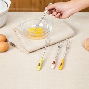 时尚小巧手动陶瓷手柄打蛋器 厨房蛋糕烘焙搅拌器打发器 蓝色