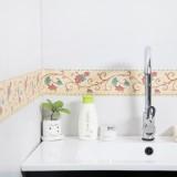 家居PVC防水自粘墙纸 厨房卫生间浴室踢脚线 腰线贴纸 粉色