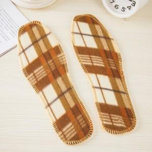 秋冬季保暖毛绒鞋垫 男女通用格子鞋垫 44码