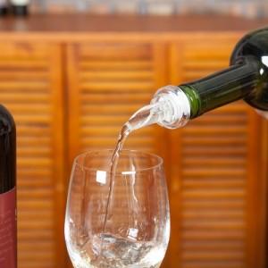 创意红酒塞酒瓶塞斟倒器 带防尘盖导流器倒酒器两件套 1076