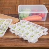 微波解冻盒分格饺子托盘 冰箱保鲜收纳盒冻饺子保鲜盒