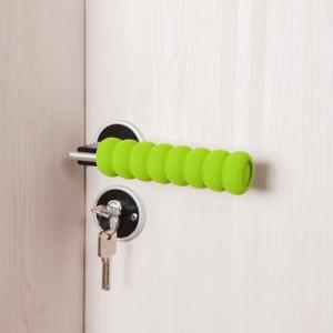 加厚螺旋EVA儿童防撞门把手保护套 防滑门把手套 绿色