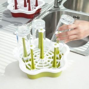 创意塑料沥水杯架 厨房置物架 玻璃水杯收纳架 挂架 杯子架 绿色