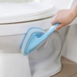 卫生间长柄百洁布浴缸刷 厨房瓷砖地砖清洁海绵三角刷(替换头3个装) 粉色