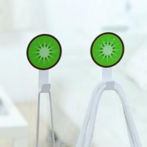创意水果造型不锈钢挂钩 强力粘钩(2个装) 火龙果