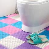 多彩大脚丫隔水地垫 自由拼接浴室防滑垫(单个卖) 橙色