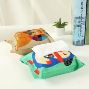 创意布艺棉麻卡通纸巾抽 家用客厅抽纸袋 纸巾套 狮子