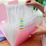 创意13位A4多功能手提文件袋 票据包 风琴包 NO.5564 青色