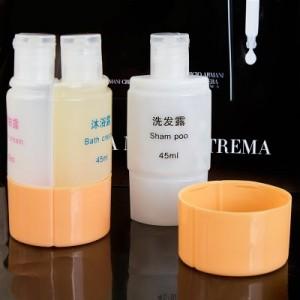 旅行出差 化妆品分装瓶 便携三合一套装瓶洗发水沐浴露乳液瓶 橙色
