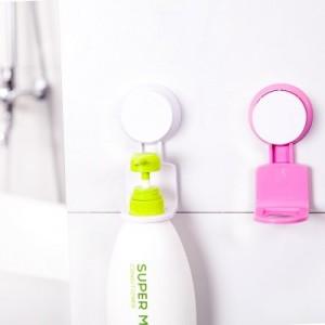 创意无痕强力吸盘洗发水沐浴露瓶洗手液挂架 卫浴置物架壁挂钩 玫红