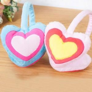 时尚仿兔毛冬季保暖耳罩耳朵防冻保护罩护耳罩 爱心款(混卖)