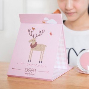 韩版创意随身镜 折叠便携小镜 台式梳妆镜 156BX 哈巴狗