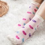 冬季防寒加厚可爱女士保暖袜子 防臭吸汗纯棉中腿袜(混卖)