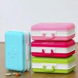 行李箱式多格分装便携药盒 精致小巧放药物盒子 RB260 绿色
