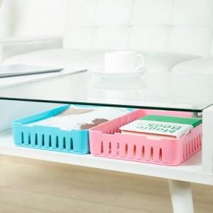 卡扣式桌面收纳篮 多用抽屉整理可叠加收纳盒(大号) 绿色
