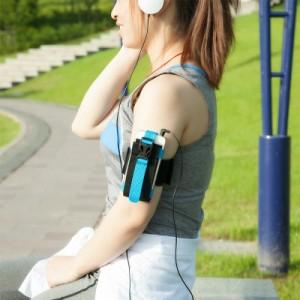 户外运动手机包 手机臂带 男女跑步装备手臂包臂套 蓝色