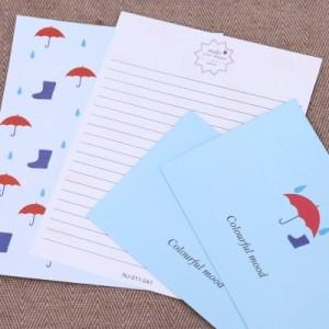 韩版信封信纸套装 浪漫彩色中信纸(2信封+4信纸)NJ-011-041