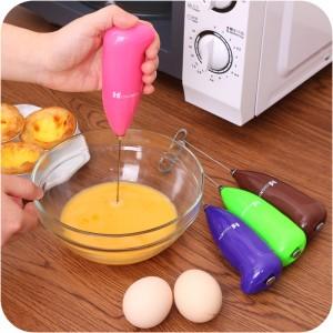 不锈钢电动打蛋器 迷你咖啡搅拌器 打奶器B款 混色