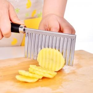 切土豆丝波浪刀 不锈钢切丝器切薯条器 厨房土豆切片器(500/件)