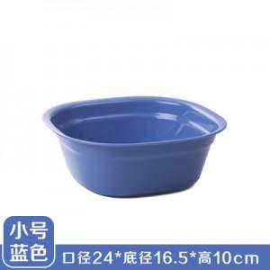 加厚塑料洗脸盆 洗脚盆 方形洗衣盆洗菜盆果盘 小号蓝色  200一件