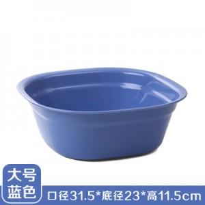 加厚塑料洗脸盆 洗脚盆 方形洗衣盆洗菜盆果盘 大号蓝色  100一件