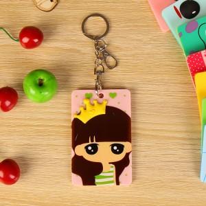 韩国可爱卡片包/钥匙扣立体公交卡套-皇冠女孩