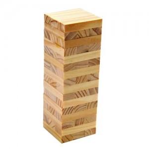儿童木制玩具-精品小号原木色叠叠高积木/叠叠乐