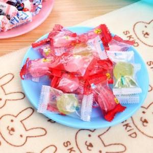 炫彩塑料餐具小碟子 零食瓜子平底盘子小吃碟 浅蓝 600个/箱